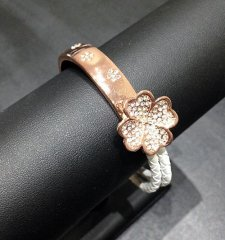 Leather and rose gold shamrock
